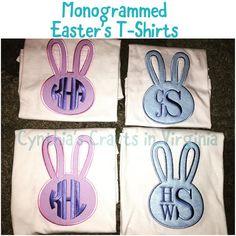 Monogrammed Easter's T-shirts  Starting at $22 each  Pokeman Inspired Birthday T-Shirt  Starting at $24  #goodfriday #bunnyears #tshirt #embroidered #custommade #personalized #eastertshirt #monogram #bunny #easter  #cynthiascraftsinvirginia #shoplocal #woodbridgeva #monoggramed #girls #boys