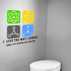 Love Science Wall Stickers