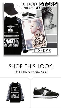 """Taeyang"" by lisannevicious ❤ liked on Polyvore featuring WithChic, Saucony, rag & bone, bigbang, kpop and taeyang"