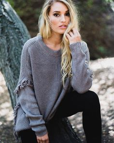 It feels like fall here in SoCal this morning and we're pulling out our favorite sweaters  Add a little update to your basic knits with details like fringe or ruffles. Link in bio for 5 not so basic basic sweaters all under $60 from @hauteshopco . Beauty team @_beautybykristy & @amybatlowski from @studio_a_hair via STYLE REPORT MAGAZINE OFFICIAL INSTAGRAM - Celebrity  Fashion  Haute Couture  Advertising  Culture  Beauty  Editorial Photography  Magazine Covers  Supermodels  Runway Models