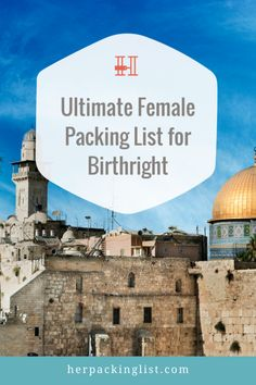 Ultimate Female Packing List for Birthright It's a very busy 10 days for those traveling for Birthright. With that in mind, this handy list from Shoshana should be extremely helpful! Her Packing List, Carry On Packing, Packing Hacks, Travel Packing, College Packing, Travel Tips, Israel Travel, Israel Trip, Leaving Home