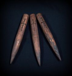Classic Handmade Wooden Vampire Stakes - The Priest - Set of 3 - Wouldn't these be chic collected in a glass vase?