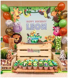 What a fun zoo birthday party! See more party ideas at CatchMyParty.com!