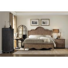 Hooker Furniture Corsica California King Panel Bed with Curved Headboard