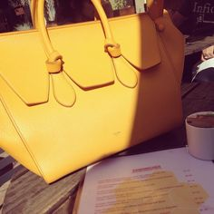 CELINE KNOT Celine yellow 2014 KNOT bag .... One of my favorites but for  the right price I will sell... I have the duster bag 49de272818e1b
