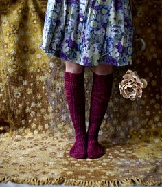 Hippity-Hop knee-length socks by Rachel Coopey for Loop, London