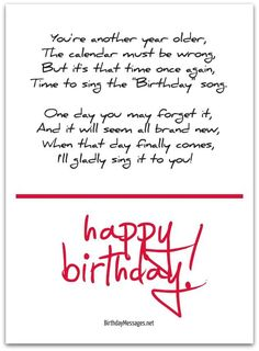 Free Birthday Verses For Cards Greetings and Poems For Friends 70th Birthday Poems, Birthday Poem For Friend, Cute Birthday Messages, Cute Birthday Quotes, Cute Birthday Wishes, Birthday Verses For Cards, Birthday Message For Husband, Happy Birthday Best Friend, Birthday Wishes Quotes