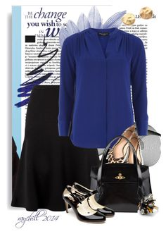 conference cobalt... by raychill3 on Polyvore featuring polyvore, fashion, style, Dorothy Perkins, Fenn Wright Manson, Rupert Sanderson, Tory Burch, Vivienne Westwood, Club Monaco, Gorjana and clothing