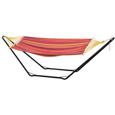Amazonas Beach Hammock and Stand Set ($165) ❤ liked on Polyvore featuring home, outdoors, patio furniture, orange, outdoor garden furniture, garden furniture, outdoors patio furniture, garden patio furniture and orange patio furniture