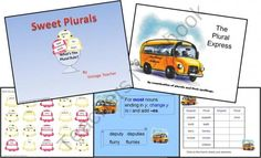 Plurals Set 1 from VintageTeacher on TeachersNotebook.com (25 pages)