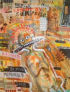 Artwork of the Day Haunted by your Memories Artist Name: Hans Meertens  Size: 39.4x28.3 inches(100x75 cms.) Medium: Mixed media on Card board Style: Expressionism More @ http://www.vamartinc.com/Work_Details.aspx?WorkId= 161