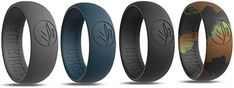 MAUI RINGS Men's Silicone Wedding Rings Breathable Comfortable Attractive Rubber Band Safe for Sports Work Fitness Thin 8 Colors Precious Metal Look Fishing Engagement, Engagement Rings For Men, Workout At Work, Gym Workouts, Rubber Bands, Precious Metals, Maui, Crossfit, Wedding Bands
