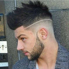 (notitle) - Hair and beauty - Mens Hairstyles With Beard, Quiff Hairstyles, Hair And Beard Styles, Latest Hairstyles, Haircuts For Men, Short Hair Styles, Hairstyle Fade, Try Different Hairstyles, Quiff Haircut