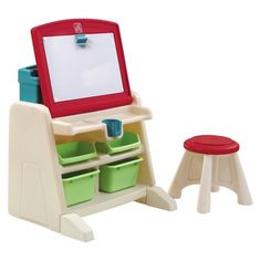Step2® -- Flip & Doodle Easel Desk with Stool™