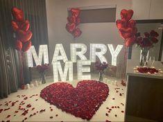 Romantic Room Surprise, Romantic Proposal, Romantic Room Decoration, Romantic Bedroom Decor, Wedding Proposals, Marriage Proposals, Magical Wedding, Dream Wedding, Proposal Ideas At Home