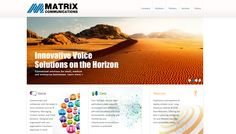 Matrix Communications Website Design by Faster Solutions Inc. fastersolutions.com #web