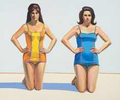 Wayne Thiebaud http://www.charleslewisart.com/images/cla-blog/two_kneeling_figures_wayne_thiebaud.jpg