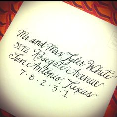 Calligraphy - Calligraphy by Kathleen - find me on facebook!