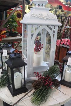 Luminara #lantern indoor/outdoor with candles; outstanding selection at The Barn Nursery, Chattanooga!