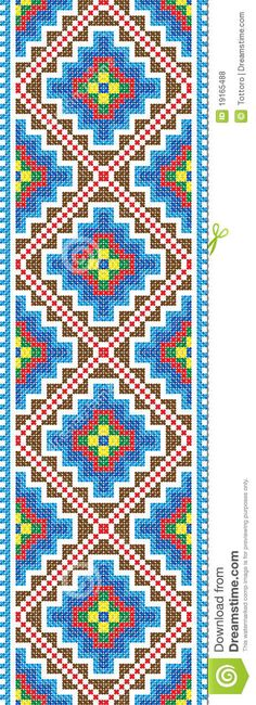 Vector Pattern Traditional Embroidery Cross-stitch - Download From Over 29 Million High Quality Stock Photos, Images, Vectors. Sign up for FREE today. Image: 19165488