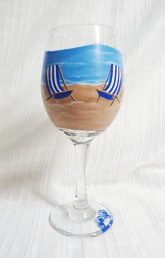 Hey, I found this really awesome Etsy listing at https://www.etsy.com/listing/471696828/painted-wine-glasses-beach-wine-glasses