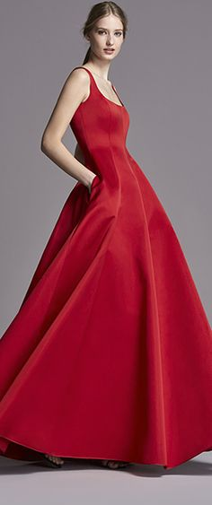 C - Carolina Herrera Beautiful Gowns, Beautiful Outfits, Vestidos Carolina Herrera, Dress Skirt, Dress Up, Vestidos Vintage, Red Fashion, London Fashion, Dream Dress