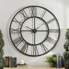 Add old-world, vintage flair to your wall decor when you shop the 'Addison Wall Clock'!