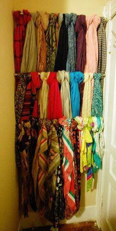Scarf Storage - one day i will own this many scarves