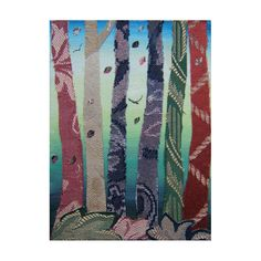 Small Grove. Collage. 5x7ins by bitsanbobsanbags on Etsy