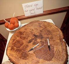 Rustic Wedding guest book, later can hang up or put on easel stand.