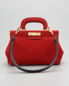 Suede Top-Handle Satchel Bag by Marni at Bergdorf Goodman.
