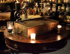A Witches Spell Box of Magickal Wares Handcrafted from EnchantedWitchery.com
