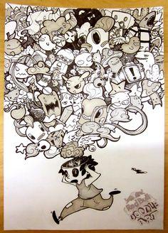 Redbull Doodle art Comp entry by machinegunkicks.deviantart.com on @deviantART #doodle #drawing #art