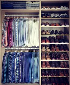 Mens Shoe Closet good idea for a shoe closet for the family. maybe part of an entry