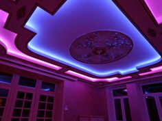 multilevel stretched ceilings with decorative ceiling LED lights