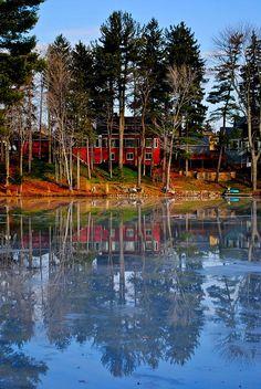 Pond of Ice - Beautiful Maine