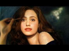 Drawing Emmy Rossum - Color Pastel Portrait Time-lapse  #Photo #pictures #Art