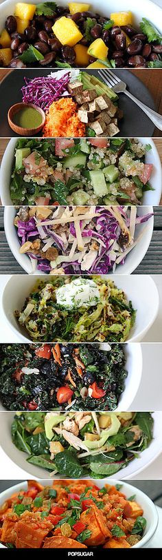 All 25 of these nutrient-dense salads support weight-loss goals, fuel the body, and satisfy your taste buds with their fresh flavors and healthy ingredients. The best way to weight loss in - Look here! Healthy Recipes, Healthy Salads, Salad Recipes, Healthy Life, Vegetarian Recipes, Healthy Eating, Cooking Recipes, Healthy Foods, Healthy Weight
