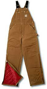 Carhartt® Brown Duck Bib Overalls - Quilt Lined @Cavender's Boot.