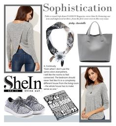 """""""SheIn - Split Back T-shirt: 06/10/16"""" by pinky-chocolatte ❤ liked on Polyvore featuring Nuuna"""