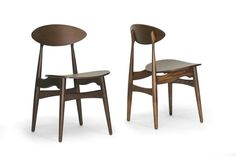 Baxton Studio Ophion Dining Chair in Set of 2
