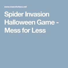 Spider Invasion Halloween Game - Mess for Less