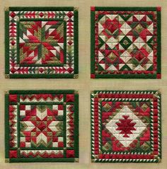 As promised last week, I've got a new pattern to share with you called HOLIDkaAY ORNAMENTS SERIES 2 . Here's what the four new quilt-y ornamen...