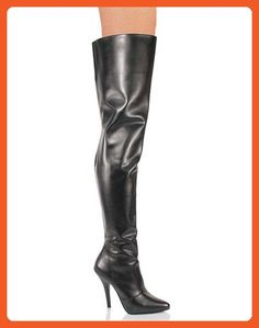 c3c1c866f922 Hot black leather thigh-high boots with fitted design