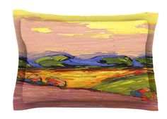 Pastoral View by Jeff Ferst Painting Cotton Pillow Sham