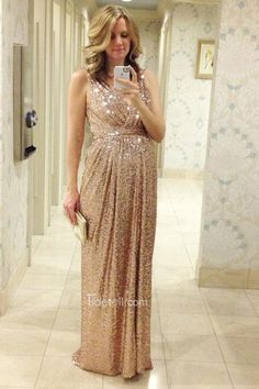 2016 long prom dress, v-neck sequined prom dress, pregnant prom dress, bridesmaid dresses