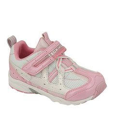 Look what I found on #zulily! Pink & White Baby Speed Sneaker by TSUKIHOSHI #zulilyfinds