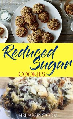 Use these delicious reduced sugar cookies to help curb those sweet tooth cravings and avoid crashing your nutritious meal plan. Quick Healthy Desserts, Low Sugar Desserts, Healthy Holiday Recipes, Healthy Cookie Recipes, Lemon Desserts, Healthy Cookies, Healthier Desserts, Healthy Snacks, Lunch Recipes