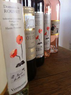 Des vins du sud que l'on aime, des étiquettes bien fleuries. #alpes #provence #vin #caveosaveurs