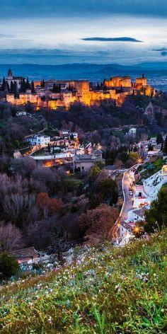 A gorgeous view of Granada at night! devourgranadafoodtours.com